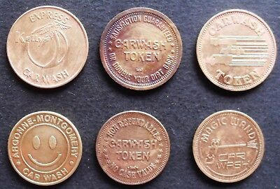 Car wash  tokens - 6 types