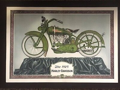 Vintage 1925 Harley Davidson Advertising Poster Print Brochure Original