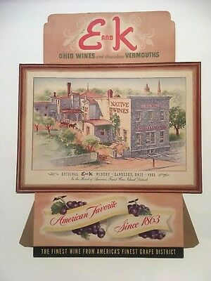 VTG 1950s E AND K WINERY STORE ADVERTISEMENT COUNTER DISPLAY WINERY SANDUSKY OH