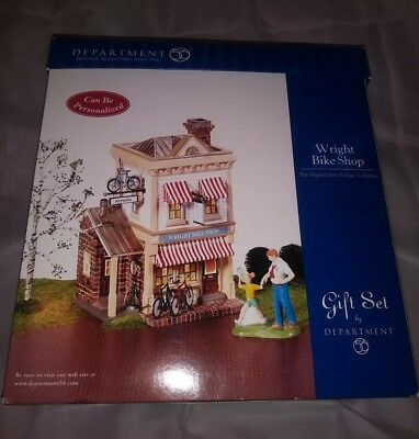 Dept 56  From The Original  Snow Village Collection  Wright Bike Shop Gift Set