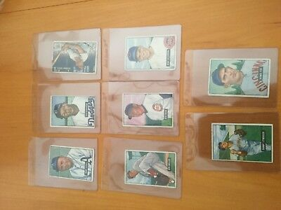 1951 Bowman Baseball Cards Lot of 8 different cards nice but lower grade