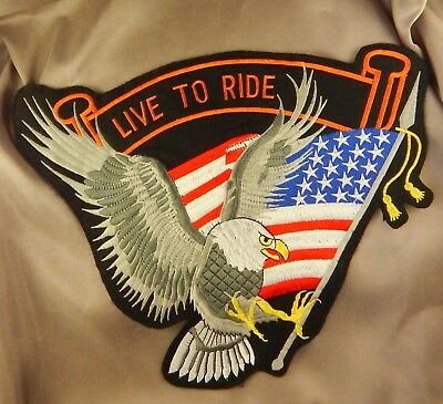 Embroidered Live To Ride Patch