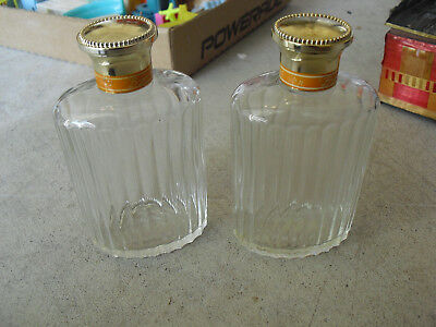 Lot of 2 Vintage Glass Lalique France Nina Ricci Empty Perfume Bottles