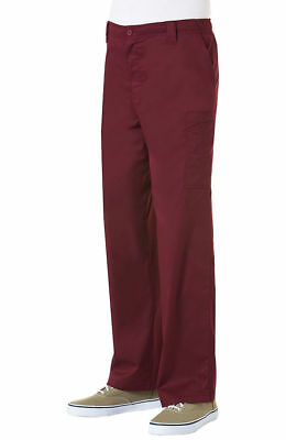 "MAEVN Men's Style 8202 Cargo Scrub Pant in ""WINE"" Size 2XL"