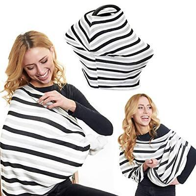Ultra Soft, Comfortable, Breathable, Stretchy Multi-Use Nursing Cover and Baby C