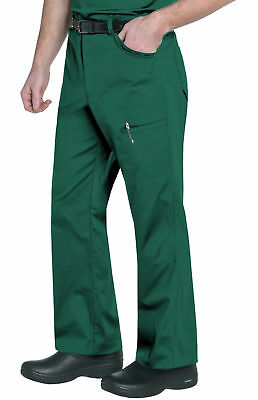 "Landau Men's Style 2026 Cargo Zippered Scrub Pant in ""Hunter"" Size 2XL"