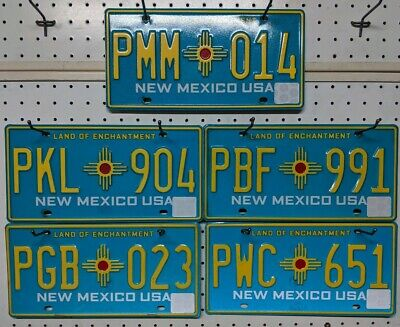 !!! PICK ONE !!! New Mexico Land Of Enchantment License Plate. NM Turquoise