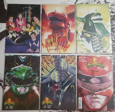 Mighty Morphin Power Rangers 0 - 1 - 2 - Variant Lot of 5  & #20 - Regular Cover