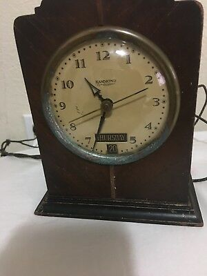 Vintage Hammond Synchronous Electric Mantle Clock WORKS (SEE PICS FOR CONDITION)