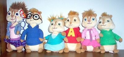TY BEANIE BABIES Alvin and the Chipmunks Chipettes Complete set ... 027eef3601bd