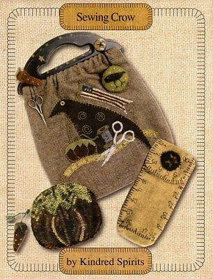 SEWING CROW || Primitive Sewing / Embroidery Projects || KINDRED SPIRITS!