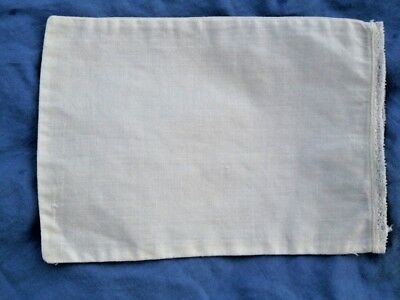 "VINTAGE Antique LINEN White Small BABY Doll Pillowcase 7""X10"" DELICATE Lace TRIM"