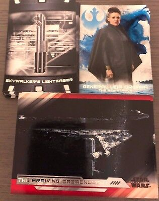 2018 TOPPS STAR WARS THE LAST JEDI SERIES 2 100 CARD BASE SET plus 30 inserts