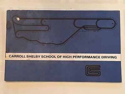 Rare Carroll Shelby School Of High Performance Driving Pamphlet 5x8 1960s Cobra