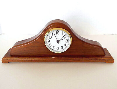 MANTLE Desk CLOCK TAKANE Quartz USA Made HAND CRAFTED Wood Arts & Crafts Deco