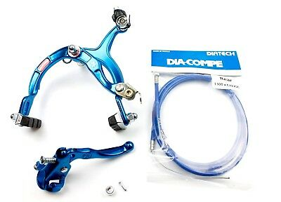 Genuine Dia-Compe MX1000 - MX121 Rear Brake Kit Dark Blue- Old School BMX