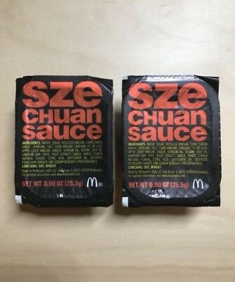 2018 Mcdonalds Szechuan Sauce Rick And Morty 2 Sauce Pack Limited Edition New