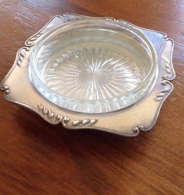 Vintage Old Silver Plate, Epns A1 Butter Dish & Glass Insert