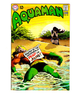 AQUAMAN #45 in VF/NM condition a DC silver age comic with Mera