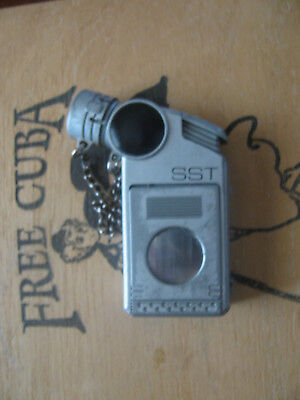 Pocket Cigar Turbo Torch Cigar Lighter w Cutter VERY RARE Used
