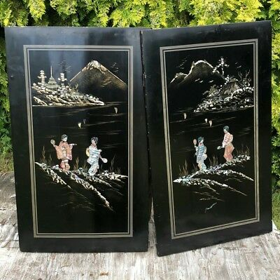 Antique Vintage Beautiful Wooden Chinese Oriental Wall Hangers *