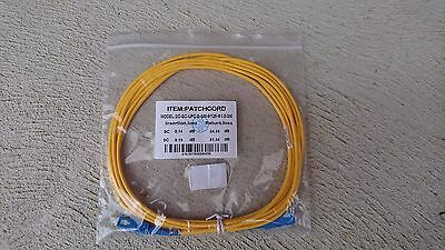 3M Sc To Sc Simplex Single Mode Fibre Patch Cord