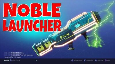 Fortnite Save The World Very Rare 130 God Roll Full Durability Noble Launcher