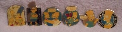 Lot of 6 The Simpsons 1990 Magnets. Metal  Bartman,Homer,Bart  Matt Groening