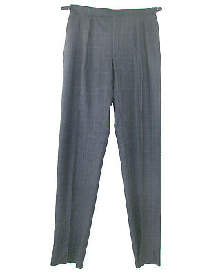 NEW Polo Ralph Lauren Wool Cashmere Pants Size 34 Gray Plaid Made in Italy