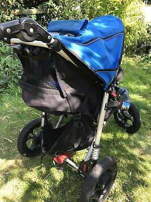 Out n About Nipper Single V4 Blue Pushchair Single Seat Stroller