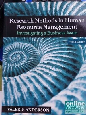 Research Methods in Human Resource Management Investigating a Business 3rd Ed