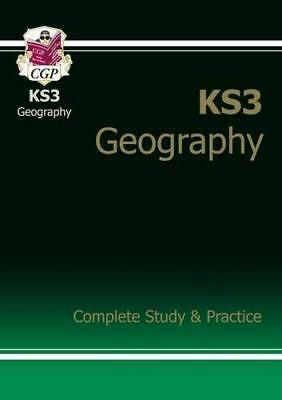 KS3 Geography Complete Study & Practice CGP KS3 by CGP Books New Paperback Book