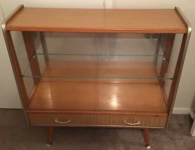 Retro Vintage Display cabinet with drawers