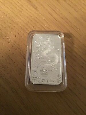 2018 1oz Silver Australian Dragon (rectangular)  Bullion Coin. New/Uncirculated