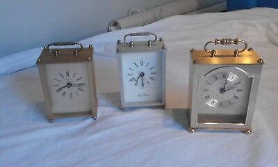 2 Carriage Clock's  £10 EACH fully working, County make clock, sold on the right