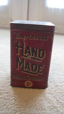 Early 5 Cent Hand Made Hauptmann's Cigar Tin Country Store Advertising Tobacco