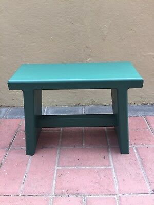 Home Made Childrens or Kitchen Wooden Stool in Green