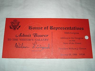 President William J. Clinton 1996 State of the Union Address pass