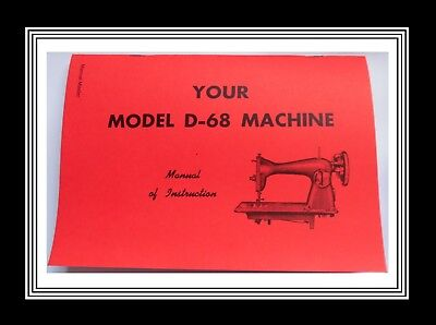 JONES BROTHER model D68 sewing machine instructions Manual Booklet
