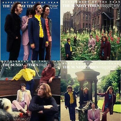 The Beatles - Uk Only Sunday Times Magazine 'mad Day Out' - The Full Set Of 4