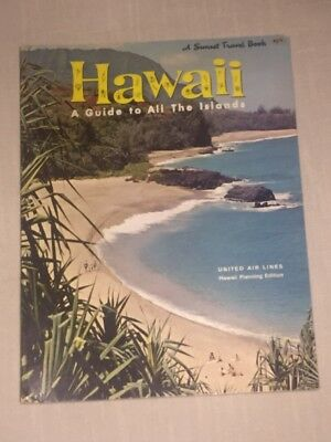 Vtg 1964 Hawaii Guide ~ A Sunset Travel Book United Air Lines Planning Edition