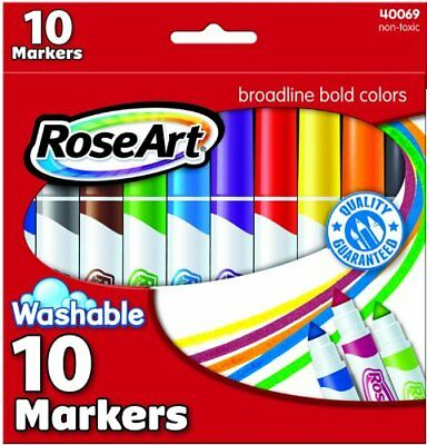 Washable Bold Broadline Markers 10 Ct Assorted Colors CYB67 PARTY