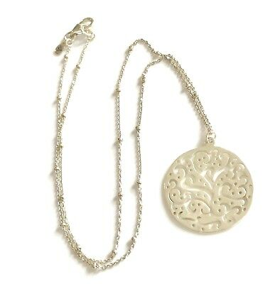Silpada 925 Sterling Silver CUT ABOVE Filigree Round Disc Necklace N2328 RETIRED
