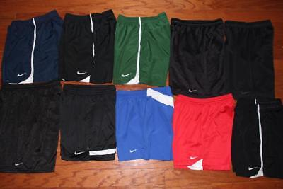 Lot Of 10 Nike Dri-Fit Youth Boys Athletic Shorts Soccer Running Medium 10-12