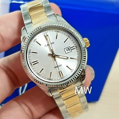Casio Two Tone Gold Stainless Steel Analog Ladies Dress Watch LTP-1302SG-7A New