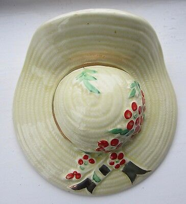 Hat design Wall pocket vase Vintage RETRO 1940s/50s Perfect condition