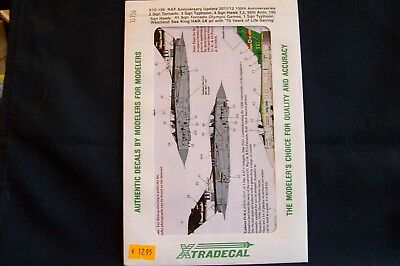 XTRADECAL  #X72-156   Royal Air Force Anniversary Update 2011 / 12         1/72