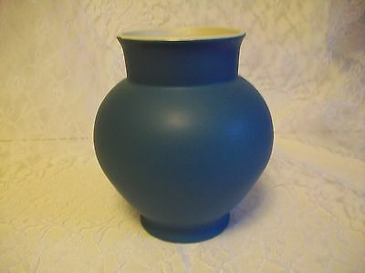 "Coors Art Pottery Golden Colorado Brighton Vase Dark Blue Matte 8"" 1930's"