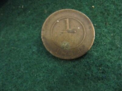 Scarce Dominican Republic 1/4 Real 1844 Coin Km#1 Crosslet 4