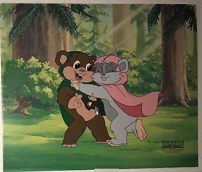 Star Wars EWOKS  Limited Edition 5000 Animation Art Cel COA Filmation